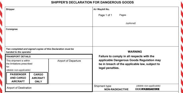 Dokumenty transportowe DGD/DGN/IMO